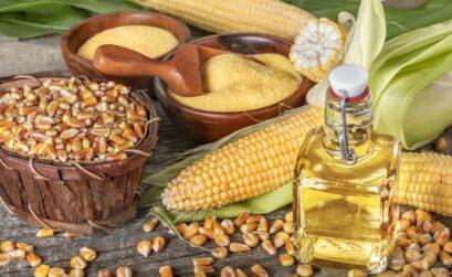 cheveux et huile de maïs
